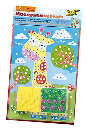 folia 23801 - Moosgummi Mosaikbild Giraffe, 405 Teile