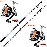 Evo fishing Kit Pesca 2 Canne Surf + 2 Mulinello Trabucco Dayton 8000