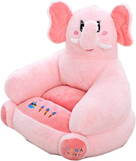 Kids sofa Learn sitting chair  Toldder infant Nursery Support seat pillow Plush cushion toys For gaming room-Elephant 120x70x60cm