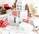 Snowflake Adventskalender, 24 Schachteln zum befüllen ideal als Verpackung für Pralinen, Schmuck oder kleine Geschenke - schönes Design für eine Freundin oder Männer