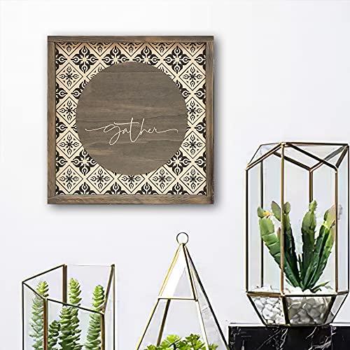 Letrero de madera con azulejos de bienvenida, más tamaños y colores, decoración del hogar, familia, religioso, escritura, marco rústico, para baño, pared de madera rústica