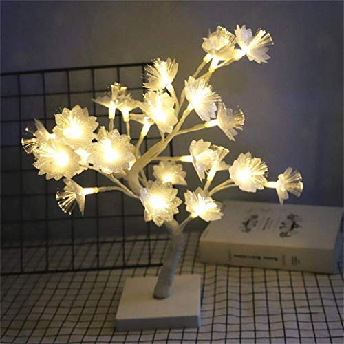 JALAL 24Pcs Bulbs LED Decorative Lights with USB Cable, Nordic Wind Small Tree Lamp Fiber Flower Night Light, Warm IP42, for Valentine's Day, Christmas, Party, Living Room, Bed Room
