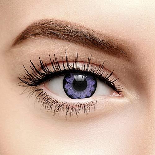 Farbige Kontaktlinsen Ohne Stärke Blume Violett (90 Tage)