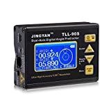 Medidor de ángulo TLL-90S, transportador de ángulo inclinómetro de nivel digital profesional de doble eje 0.005 con pantalla LCD 100-240V 50-60Hz