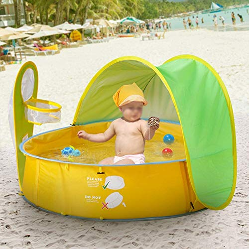 Shanbor Anti-UV Child Tent, Mini House, Foldable Durable Ball Pool with Basketry Child Pool Tent, Great Performance Travel for Baby Summer Beach