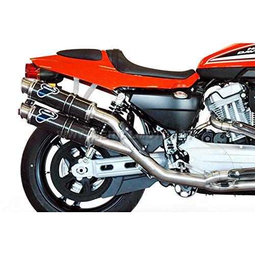 HARLEY DAVIDSON XR1200 R 2008 08 SCARICO COMPLETO TERMIGNONI TONDO CARBONIO