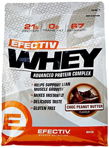 Efectiv Sports Nutrition Efectiv Choc Peanut Butter Whey Shake, 2 KG