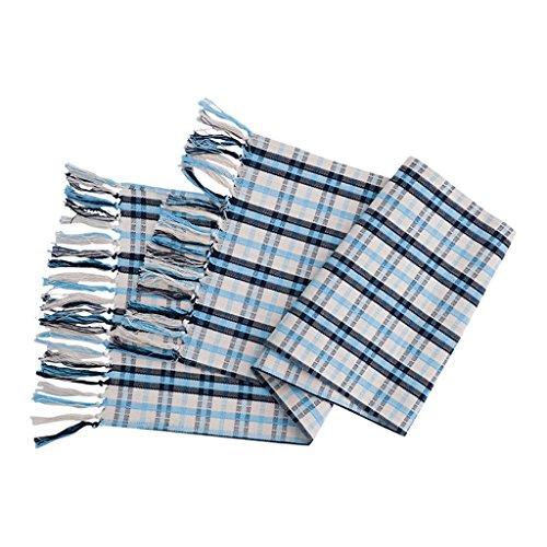 CJH Blauwe Plaid Tafelvlag Moderne Minimalistische Koffie Tafelkleed Tafelkleed TV Kast Schoenenrek Handdoek Bed Vlag Bed Handdoek 35 * 200cm