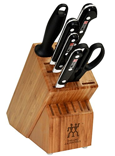 Zwilling J.A. Henckels 35666-000 Professional S Knife Block Set, 7 Piece, Black