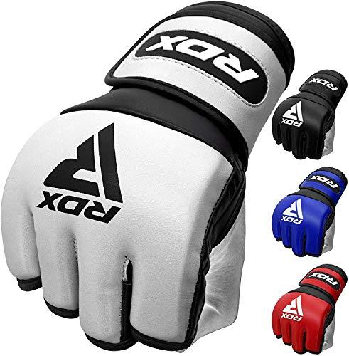RDX Guantes MMA para Artes Marciales Entrenamiento   Maya Hide Skin Cuero Grappling Guantillas   Bueno para Sparring, Kickboxing, Muay Thai, Lucha Libre y Combate Training