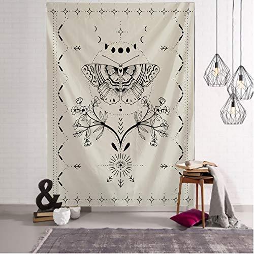 Tapiz simple Tarot patrón mariposa flor tapiz manta psicodélico bruja colgante de pared Bohemia gitano hogar dormitorio decoración 200x150cm cmyk419