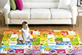 Abhsant Baby Play Mat Crawling Foldable BPA Free Non-Toxic Playmat,Portable Extra Large Waterproof