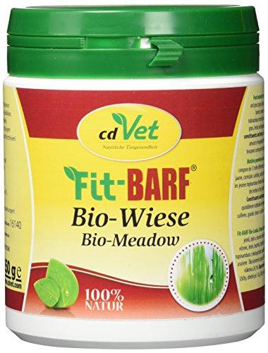 cdVet Naturprodukte Fit-BARF Bio-Wiese 350 g - Hunde - Bio-Kräuter-Kombination - Quelle für Mineralien, Vitamine und Spurenelemente - Basen-Regulation - Vitamine - Rohfütterung - BARFEN -