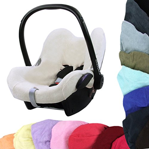 Babys-Dreams–Universal Funda de verano colchón de rizo para Maxi Cosi cabriofix nuevo rojo blanco