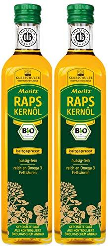 Moritz Bio Aceite de semillas de colza, prensado en frío, nativo, 2 veces 500 ml