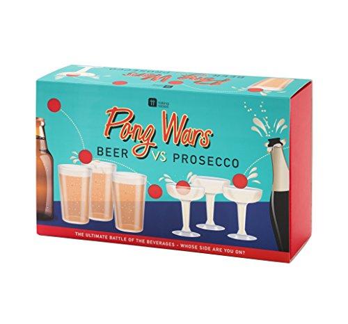 Talking Tables Ping-Pong spel - Prosecco tegen bier. Wie winst?