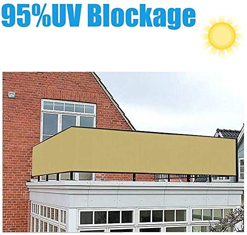 KANULAN Balcony Privacy Screen High Density Polyethylene 90% UV Protection Decorative Fences Fasteners And Rope For Court Garden Or Building garden fence (Color : Yellow, Size : 3x6m)