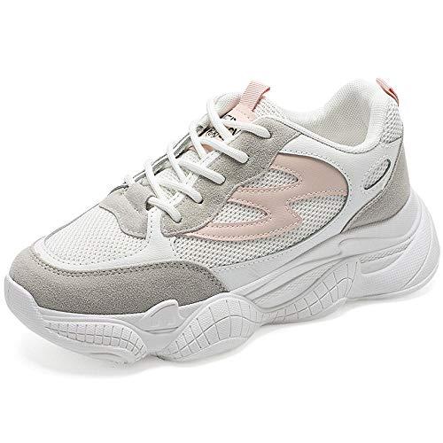 LXQLFY Zapatos de otoño Viejos Zapatos de Mujer Coreana Salvaje Zapatos Deportivos Retro Zapatos Beige de Estilo de Hong Kong i Street Shot Zapatos casuales-37_
