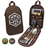 13 PC Grilling and Cooking Utensils for The Outdoors (Brown (Mi))