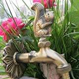 Grifo de jardín Lavadora Grifo de jardín Grifo de forma animal Grifo de caracol de latón antiguo Lavar Fregona/Animal de riego de jardín
