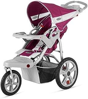 Brand New For Baby InStep Safari Single Swivel Wheel Baby Jogging Stroller - Wine/Grey   AR191