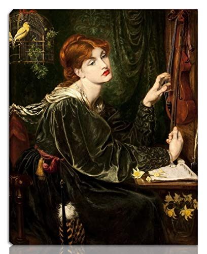 Berkin Arts Dante Gabriel Rossetti Stretched Giclee Print On Canvas-Famous Paintings Fine Art Poster Reproduction Wall Decor-Ready to Hang(Veronica Veronese)#NK