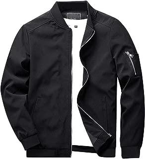 KEFITEVD ライトジャケット メンズ ミリタリージャケット カジュアル ジャンパー スリム ブルゾン フライトジャケット スタジャン バイク用 薄手 アウター コート