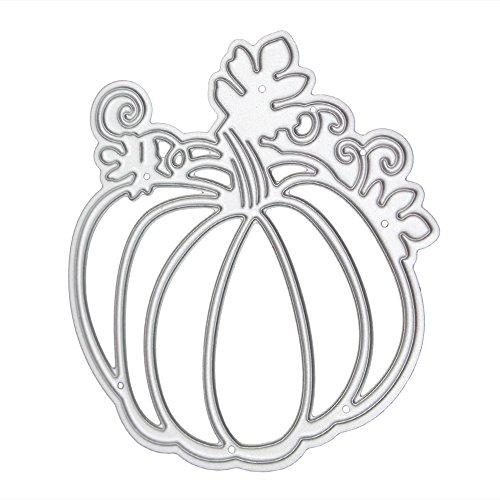 demiawaking Halloween Formen Fledermaus Deko DIY Prägung Scrapbooking Papier Karte Crafts Schablonen Silber kürbis