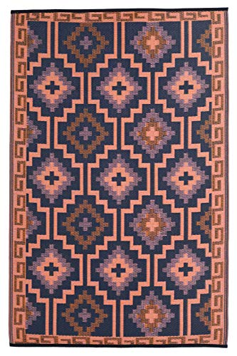 Fab Habitat Reversible Rugs | Indoor or Outdoor Use | Stain Resistant, Easy to Clean Weather Resistant Floor Mats | Lhasa - Coral (5' x 8')