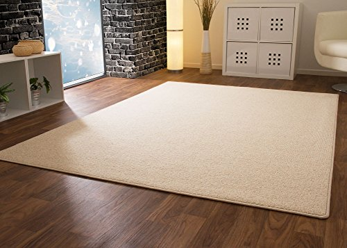 Designer Teppich Modern Berber Wellington in Sand, Größe: 80x300 cm