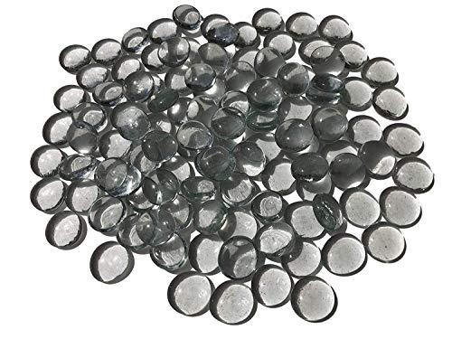 CRYSTAL KING mengsel transparant wit glasstenen nuggets 2 cm 500 g decoratieve ballen vlakke glasdecoratie glazen bolletjes tafeldecoratie vazendecoratie vulling glasstenen kleurrijk
