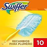 Swiffer, Plumero atrapapolvo, atrapa y retiene hasta 3 veces más el polvo y el pelo que un plumero de plumas convencional, 10Recambios
