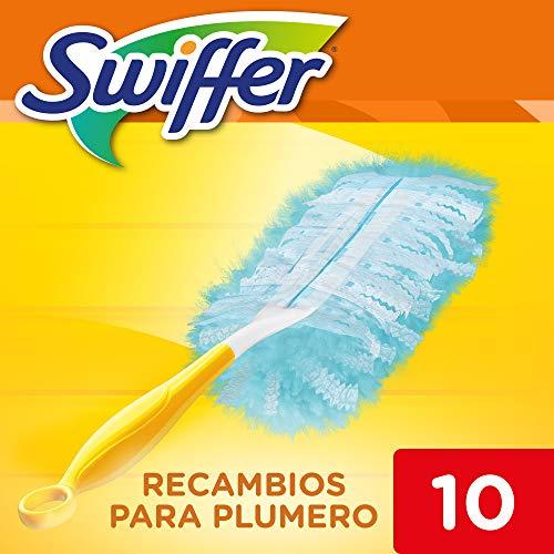 Swiffer Plumero Atrapapolvo, 10 Recambios, Atrapan y Bloquean el Polvo y los Alérgenos