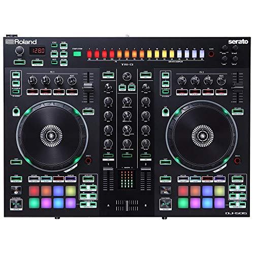 Roland DJ-505 DJ Controller, Two Channels and Deck Select For up to Four Decks - High-End DJ Controller, Compact Package