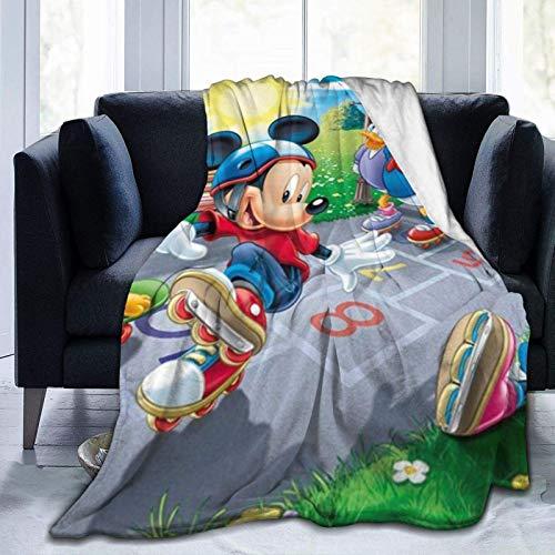 185 Unisex Flannel Blankets,Mantas De Franela Unisex De Dibujos Animados Micke-Y Minni-E Mouse, Alfombra De Manta Estampada para Acampar De Niños Adultos,153x204cm