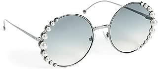 Women's Round Pearl Frame Sunglasses