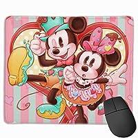 ミッキーハッピーバレンタインデー マウスパット 小型マウスパッドは25×30cm 洗える 滑り止め 高級感 耐久性が良い