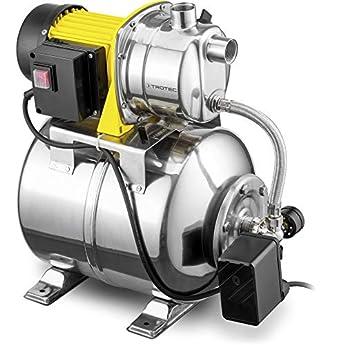 Foto di TROTEC Pompa per uso domestico TGP 1025 ES ES, corpo in acciaio inossidabile anticorrosione, 1.000 W/ 3.300 litri l'ora, IP44