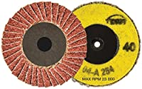 Walter Twist Quick Change Metal Surface Finishing Abrasive Flap Disc, 2-1/2 Diameter, Grit 40 (Pack of 10) by Walter Surface Technologies