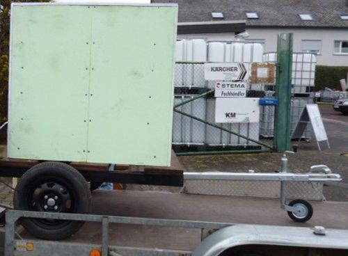 Hofer24 VOLLISOLIERTE Mobile Weidetränke/fahrbare Tränke 1000 Liter (6) IBC Tank auf Kunststoffpalette auf Anhänger Komplett neu