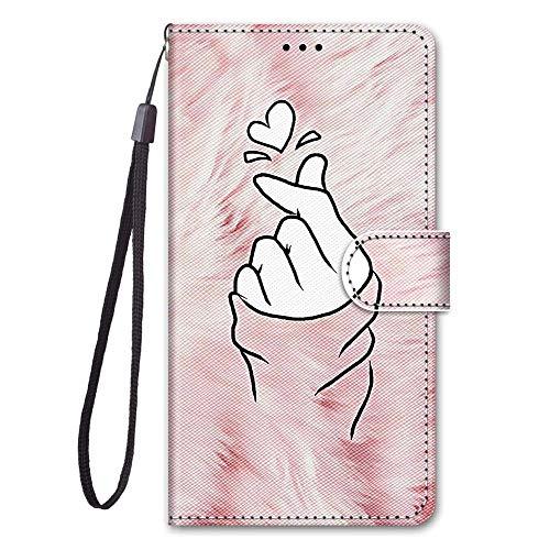 zl one Compatible con/reemplazo para la funda del teléfono Huawei Honor 6C Pro / V9 Play PU piel protección lindo pintado ranuras para tarjetas billetera (b12)