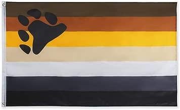 FLAGLINK Bear Pride Flag- 3x5 Fts – LGBTQIA Bear Brotherhood Gay Rainbow Banner
