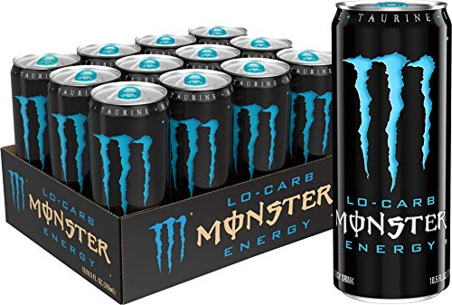 Monster Energy, Lo-Carb Monster, Low Carb Energy Drink, 10.5 Ounce (Pack of 12)