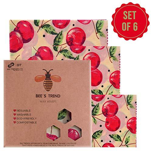Bee's Trend 6er Set Wachstücher