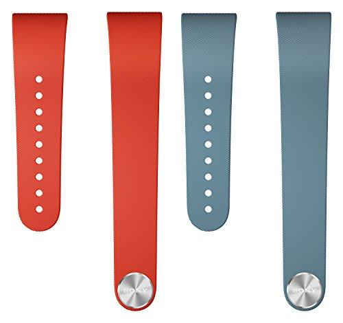 Sony Mobile Armband Wechselband für Sony SmartBand Talk in Größe L - Rot/Blau