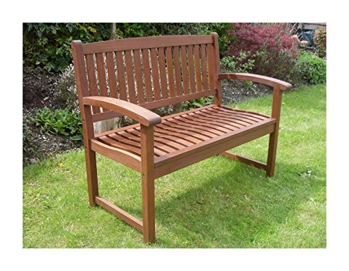 Henley Hardwood 2 Seat Garden Bench Great Outdoor Furniture For Your Garden...