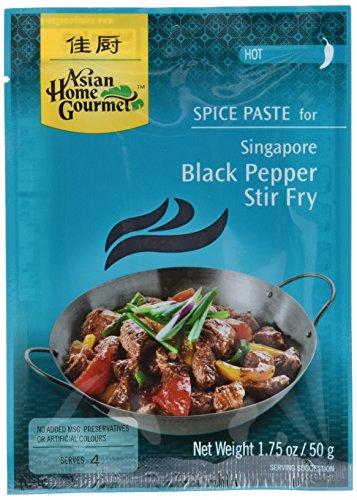 Asian Home Gourmet Würzpaste schwarz Pfeffer Wokgericht, 6er Pack (6 x 50 g)