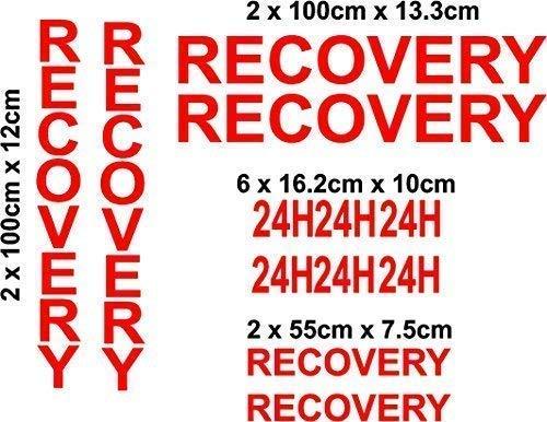 Online Design Recovery Vehicle Set Autocollants 12 Pieces Vinyl Plaque Écriture