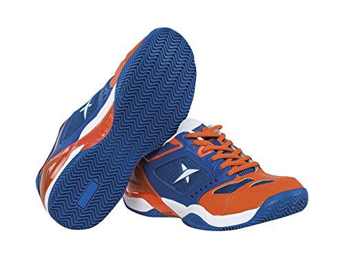 Drop Shot Atomo Tech - Zapatillas Deportivas para Hombre, Color Azul/Naranja, Talla 42