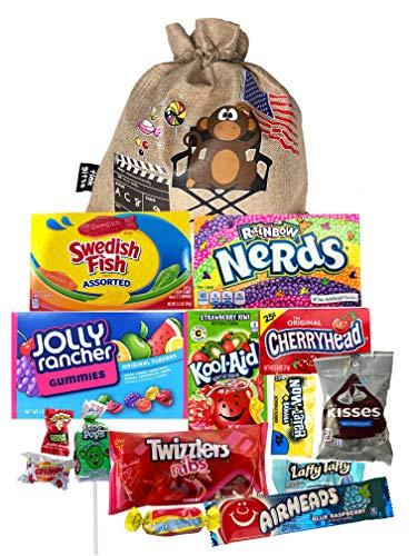 The USA Americano One | Bolsa de regalo Americano Candy USA | Bolsa De Caramelos Y Dulces Americanos | Candy Hamper Sweets & Chocolate Selection Paquete de cajas | fink gifts
